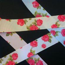 Floral Grossgrain Ribbon